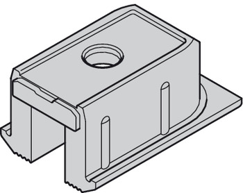 Track end piece, for screw fixing