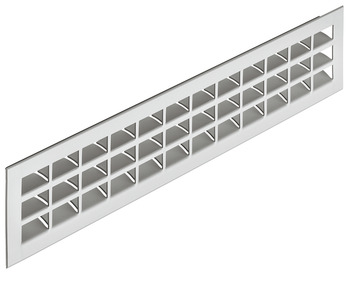 Ventilation grill, Aluminium, with ribbed flanges