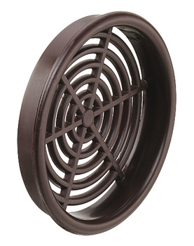 Ventilation grill, plastic, slotted, white or brown