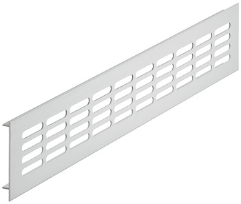 Ventilation grill, square, aluminium, with ribbed flanges, slotted