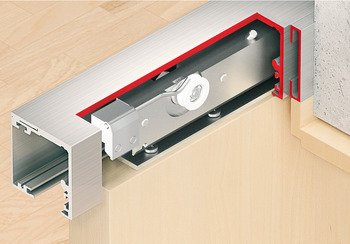 Wall compensation unit profile, For glue fixing, not drilled