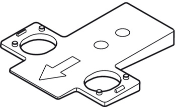Wedges, For Tiomos cruciform mounting plates that require underlying