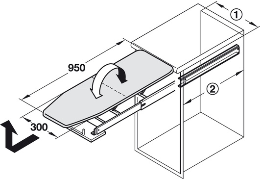 Ironing Board Ironfix For Installation Behind Drawer