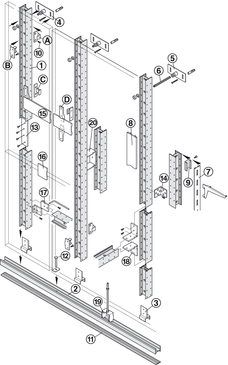 AS panel component, for keku push-in fitting - in the Häfele